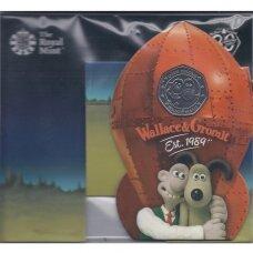 DIDŽIOJI BRITANIJA 50 PENCE 2019 KM # new BU Wallace & Gromit