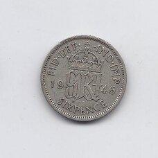 DIDŽIOJI BRITANIJA 6 PENCE 1946 KM # 852 VF