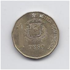 DOMINIKOS RESPUBLIKA 1 PESO 2002 KM # 80.2 XF