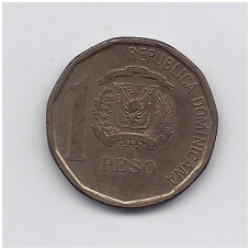 DOMINIKOS RESPUBLIKA 1 PESO 2008 KM # new VF