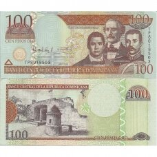 DOMINIKOS RESPUBLIKA 100 PESOS ORO 2009 P # 171b AU