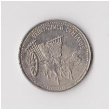 DOMINIKOS RESPUBLIKA 25 CENTAVOS 1990 KM # 71.2 F
