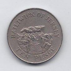 DŽERSIS 10 PENCE 1988 KM # 57.1 VF