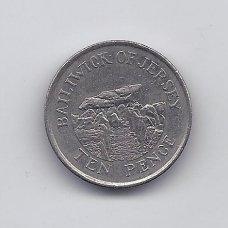 DŽERSIS 10 PENCE 1992 KM # 57.2 VF