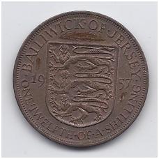 DŽERSIS 1/12 SHILLING 1957 KM # 21 VF