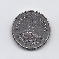 DŽERSIS 5 PENCE 1991 KM # 56.2 VF