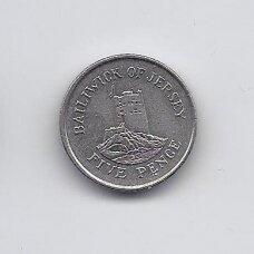 DŽERSIS 5 PENCE 1993 KM # 56.2 VF