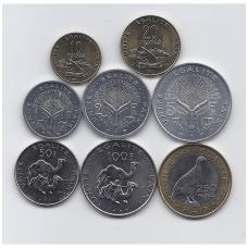DŽIBUTIS 1991 - 2013 m. 8 monetų rinkinukas
