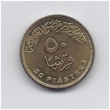 EGIPTAS 50 PIASTRES 2007 KM # 942.2 XF