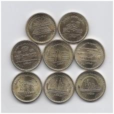 EGIPTAS 8 X 50 PIASTRES 2019 m. monetų rinkinys
