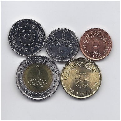 EGIPTAS 2008 - 2010 m. 5 monetų rinkinukas