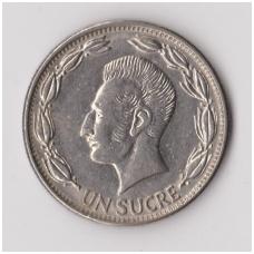 EKVADORAS 1 SUCRE 1964 KM # 78b VF