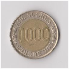 EKVADORAS 1000 SUCRES 1997 KM # 103 VF