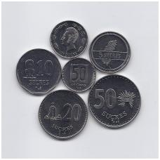 EKVADORAS 1988 - 1991 m. 6 MONETŲ RINKINYS