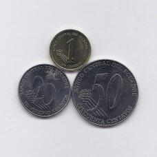 EKVADORAS 2000 m. 3 monetų rinkinukas
