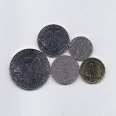 EKVADORAS 2000 m. 5 monetų rinkinys