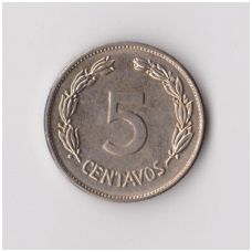 EKVADORAS 5 CENTAVOS 1946 KM # 75b XF
