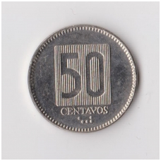EKVADORAS 50 CENTAVOS 1988 KM # 90 XF
