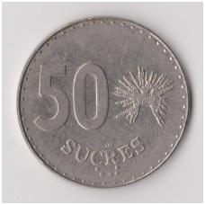 EKVADORAS 50 SUCRES 1991 KM # 93.2 VF