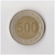 EKVADORAS 500 SUCRES 1997 KM # 102 VF