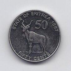 ERITRĖJA 50 CENTS 1997 KM # 47 UNC