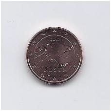 ESTIJA 1 EURO CENT 2012 KM # 61 UNC