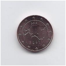 ESTIJA 1 EURO CENT 2019 KM # 61 UNC