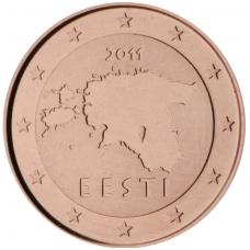 ESTIJA 1 EUROCENT 2011 KM # 61 UNC