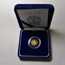 ESTIJA 15.65 KROONI 1999 KM # 37 PROOF Euro kursas