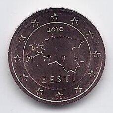 ESTIJA 2 EURO CENTS 2020 KM # 62 UNC