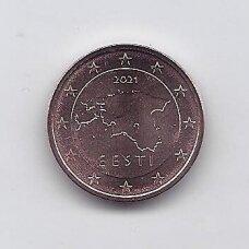 ESTIJA 2 EURO CENTS 2021 KM # 62 UNC