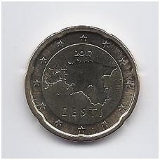 ESTIJA 20 EURO CENTS 2017 KM # 65 UNC