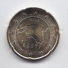 ESTIJA 20 EURO CENTS 2020 KM # 65 UNC