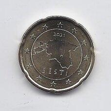ESTIJA 20 EURO CENTS 2021 KM # 65 UNC