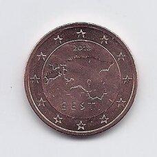 ESTIJA 5 EURO CENTS 2018 KM # 63 UNC