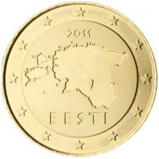 ESTIJA 50 EUROCENTS 2011 KM # 66 UNC