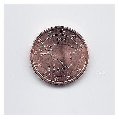 ESTIJA 1 EURO CENT 2018 KM # 61 UNC