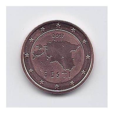 ESTIJA 5 EURO CENTS 2017 KM # 63 UNC