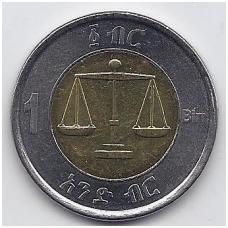 ETIOPIJA 1 BIRR 2002 KM # 78 AU