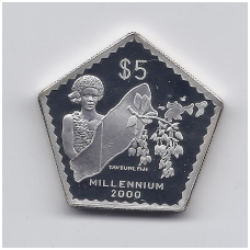 FIDŽI 5 DOLLARS 1999 - 2000 KM # 80 PROOF