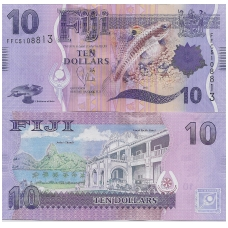FIDŽIS 10 DOLLARS 2013 P # 116 UNC