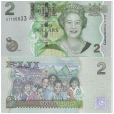 FIDŽIS 2 DOLLARS ND (2011) P # 109b UNC