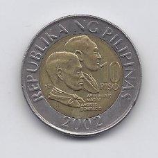 FILIPINAI 10 PISO 2002 KM # 278 VF