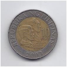 FILIPINAI 10 PISO 2003 KM # 278 VF