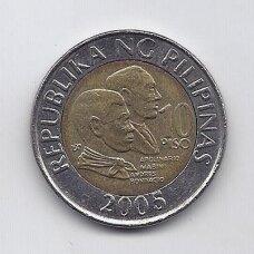 FILIPINAI 10 PISO 2005 KM # 278 VF