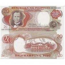 FILIPINAI 20 PISO 1969 ND P # 145b UNC