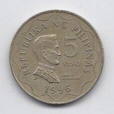 FILIPINAI 5 PISO 1996 KM # 272 VF