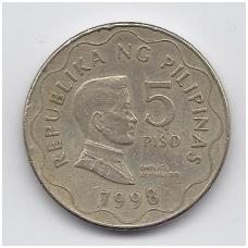 FILIPINAI 5 PISO 1998 KM # 272 VF