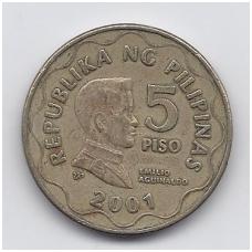 FILIPINAI 5 PISO 2001 KM # 272 VF