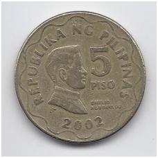 FILIPINAI 5 PISO 2002 KM # 272 VF
